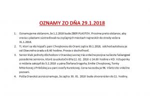 Oznamy 29.1.2018